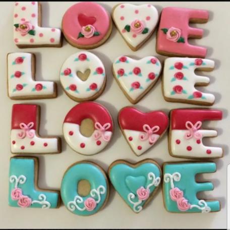 Galletas Palabra Love