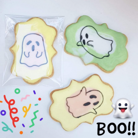 Galleta fantasma para Halloween