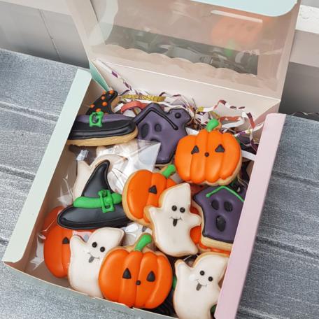 Caja de mini galletas para Halloween